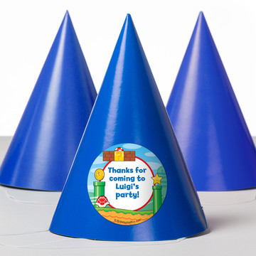 Cart Brothers Personalized Party Hats (8 Count)