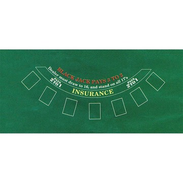 Casino Party Black Jack Felt Game Board (Each)