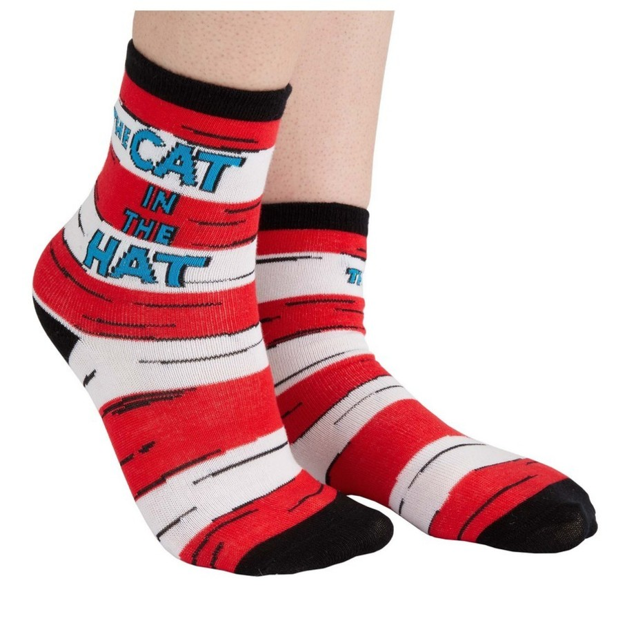 View larger image of Cat in the Hat Crew Socks