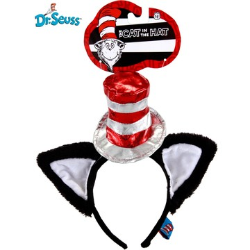 Cat in The Hat Deluxe Head Band with Ears