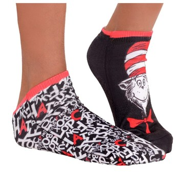 Cat in the Hat No Show Socks
