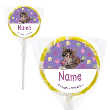 "Cat Party Personalized 2"" Lollipops (20 Pack)"