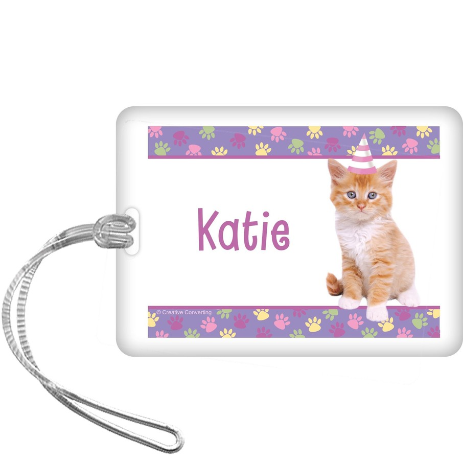 View larger image of Cat Party Personalized Bag Tag (each)