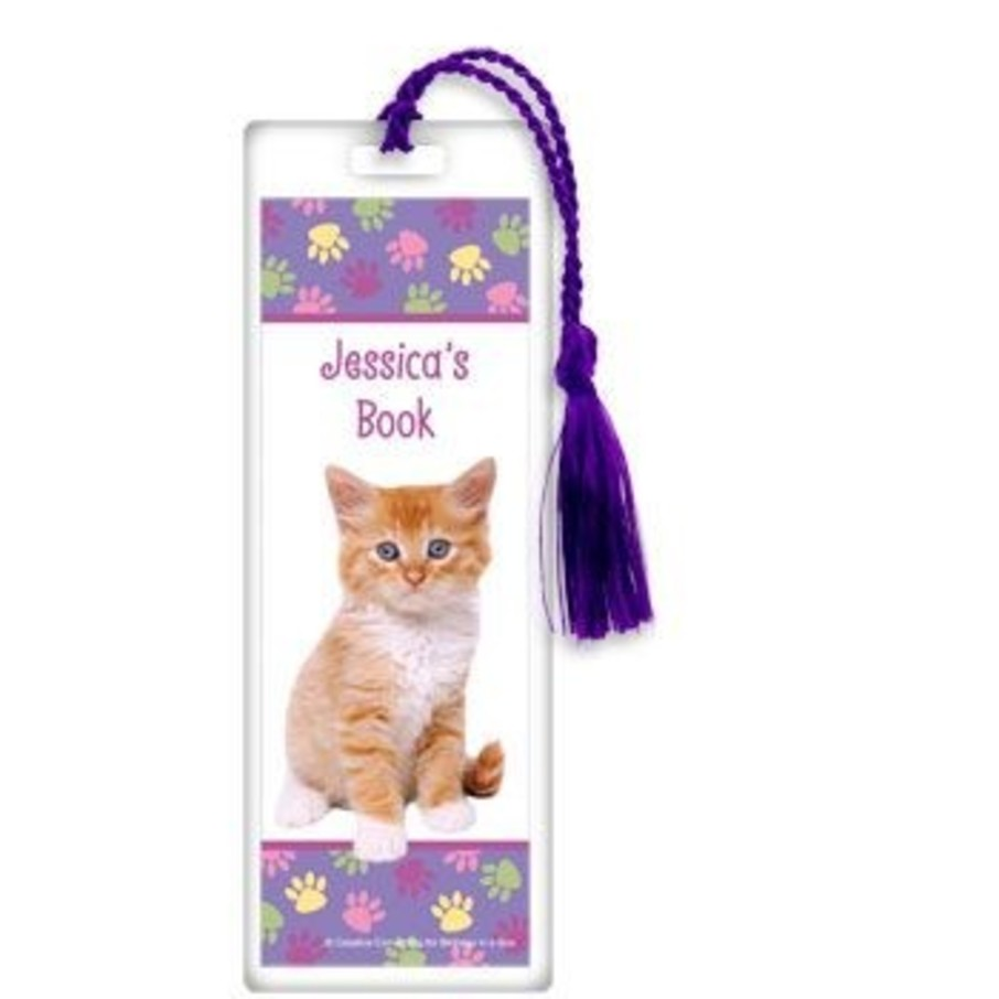 View larger image of Cat Party Personalized Bookmark (each)