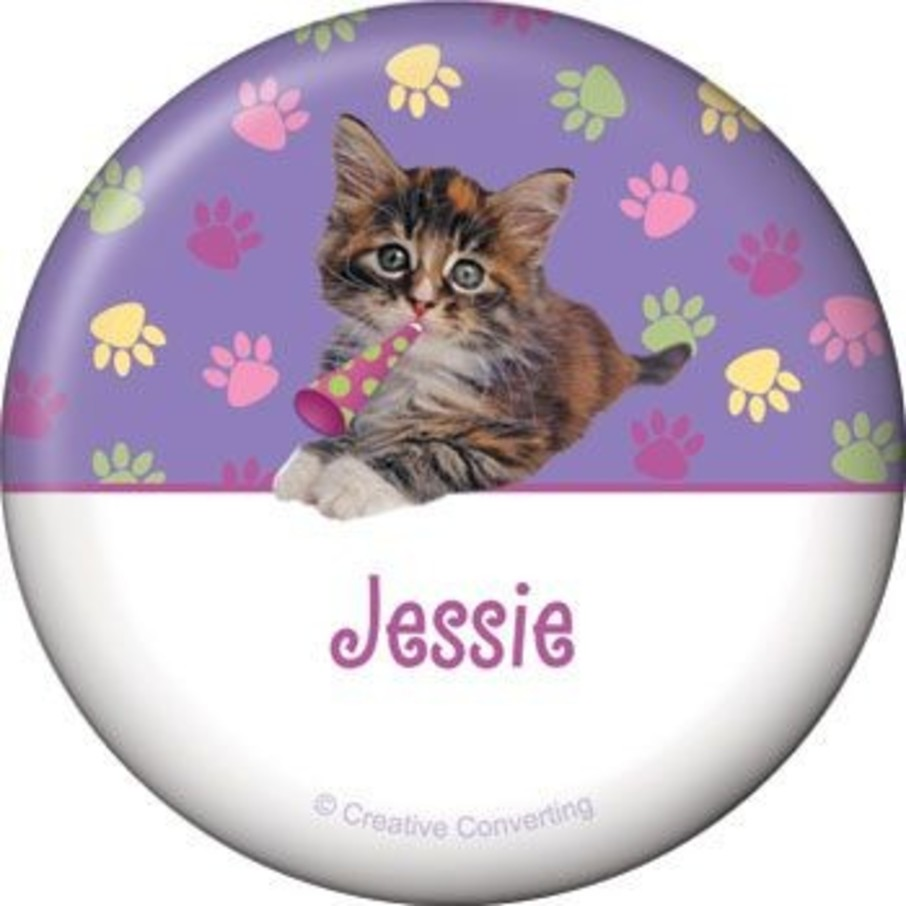 View larger image of Cat Party Personalized Button (each)