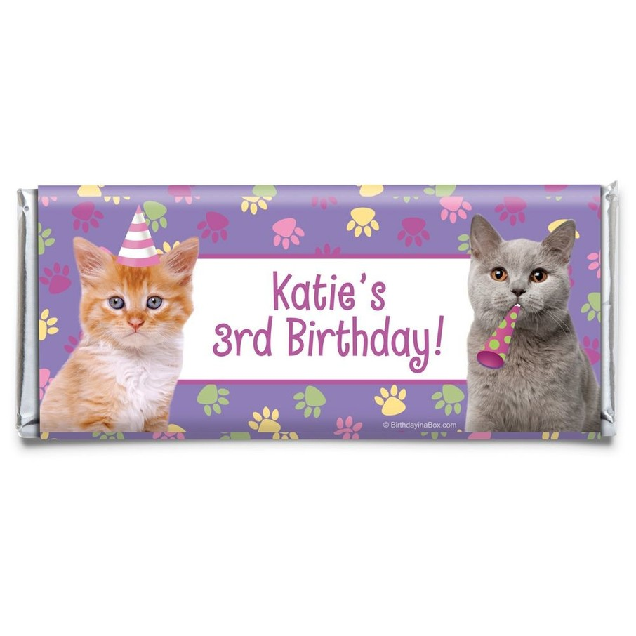 View larger image of Cat Party Personalized Candy Bar Wrapper (Each)