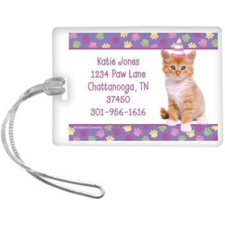 View larger image of Cat Party Personalized Luggage Tag (each)