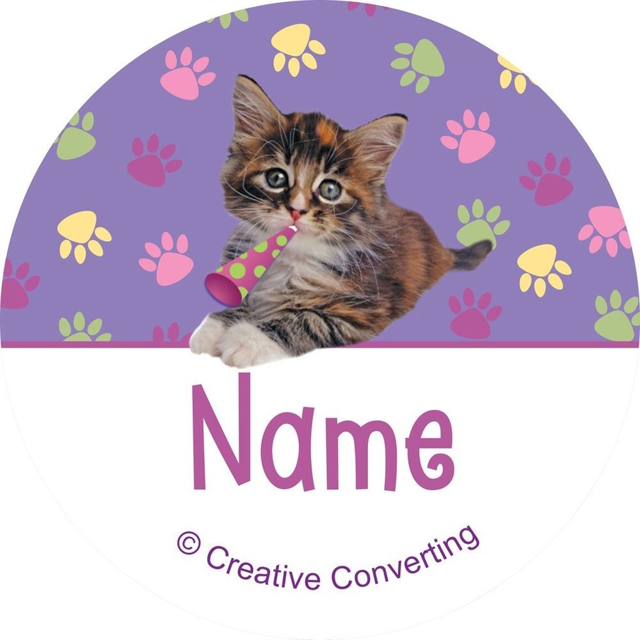 View larger image of Cat Party Personalized Mini Stickers (Sheet of 24)