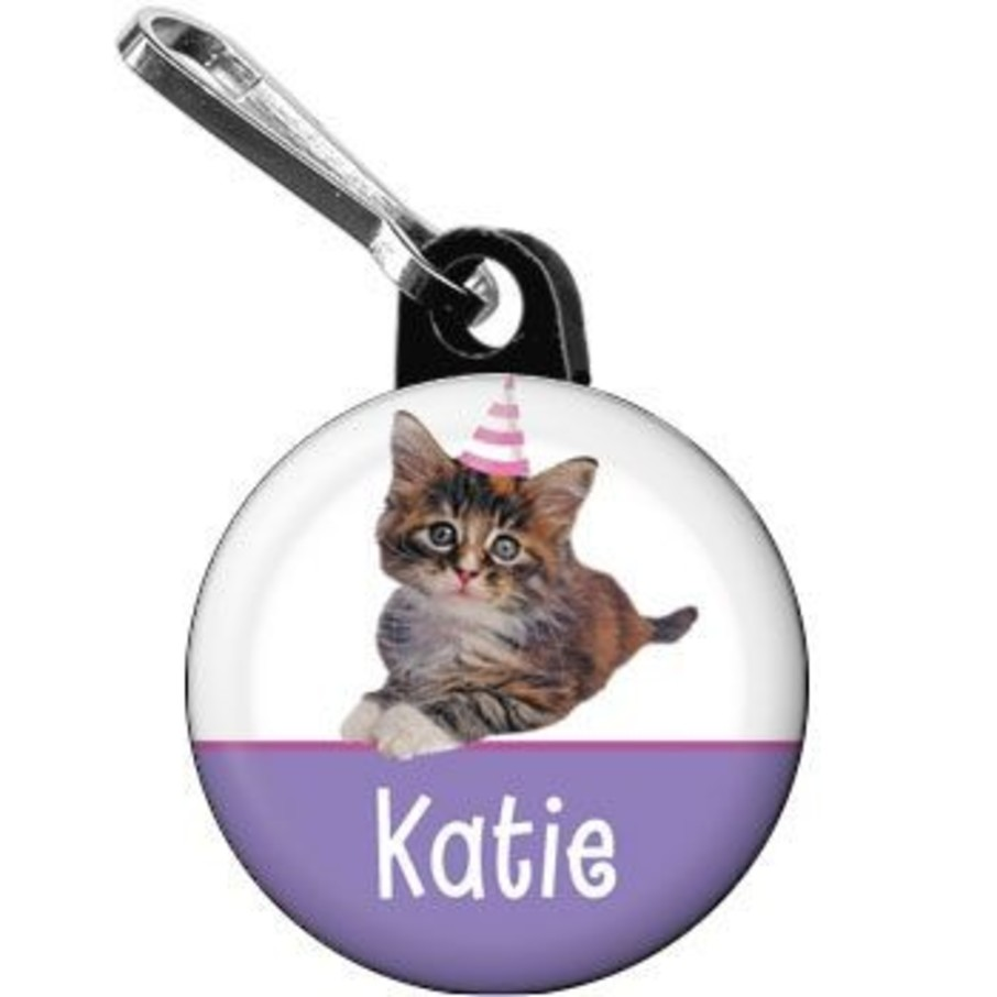 View larger image of Cat Party Personalized Mini Zipper Pull (each)