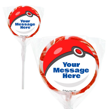 "Catch 'Em All Personalized 2"" Lollipops (20 Pack)"