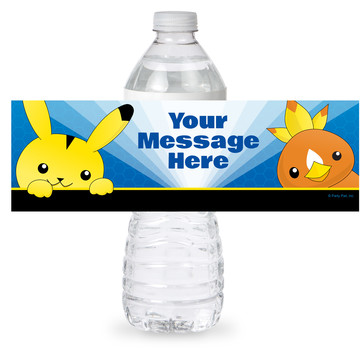 Catch 'Em All Personalized Bottle Label (Sheet of 4)
