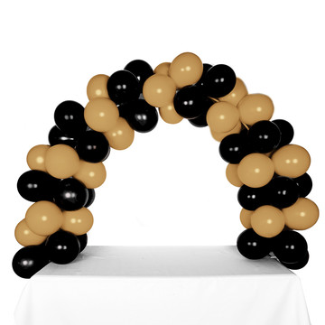 Celebration Tabletop Balloon Arch-Black Gold