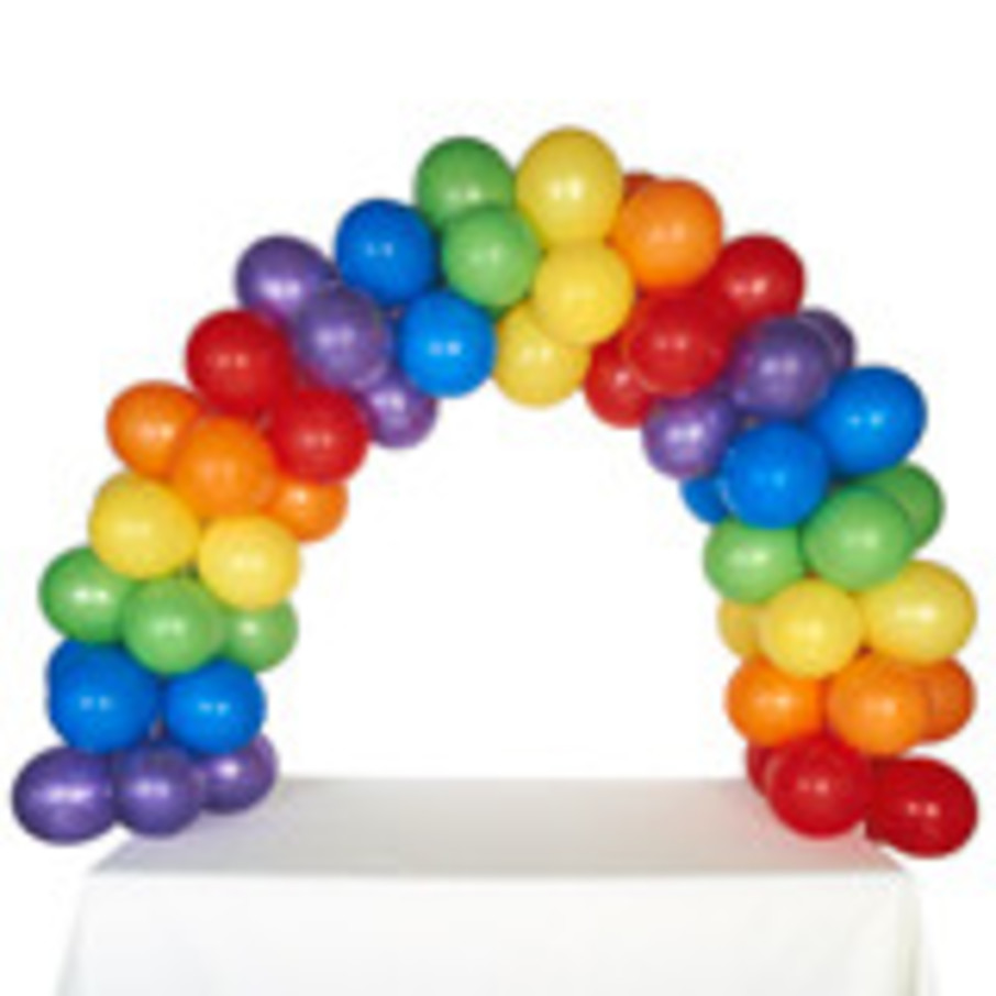 View larger image of Celebration Tabletop Balloon Arch-Rainbow