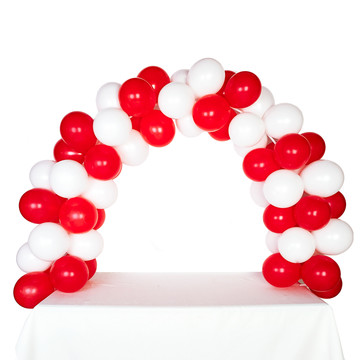 Celebration Tabletop Balloon Arch-Red White