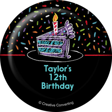 Chalk Birthday Personalized Magnet (Each)