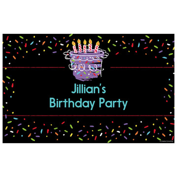 Chalk Birthday Personalized Placemat (Each)