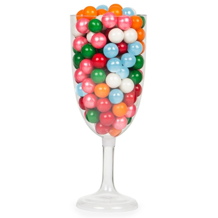 "View larger image of Champagne Glass 12 1/2"" Pedestal Plastic Container (Each)"