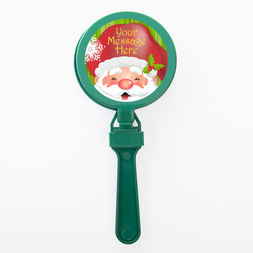 Cheerful Santa Personalized Clappers (Set of 12)