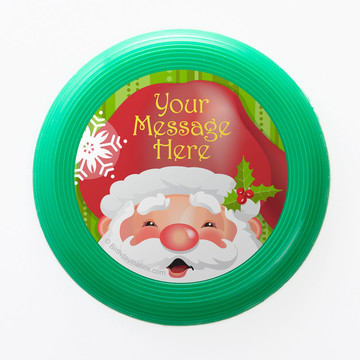 Cheerful Santa Personalized Mini Discs (Set of 12)