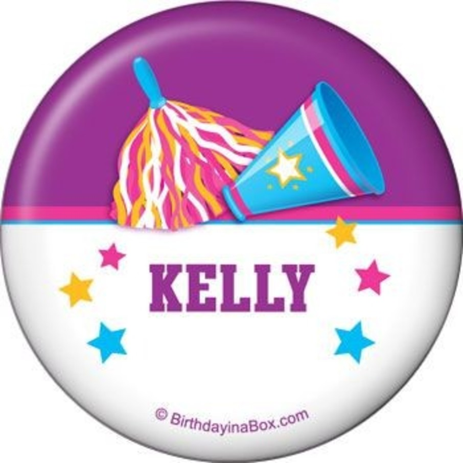 View larger image of Cheerleader Personalized Button (each)