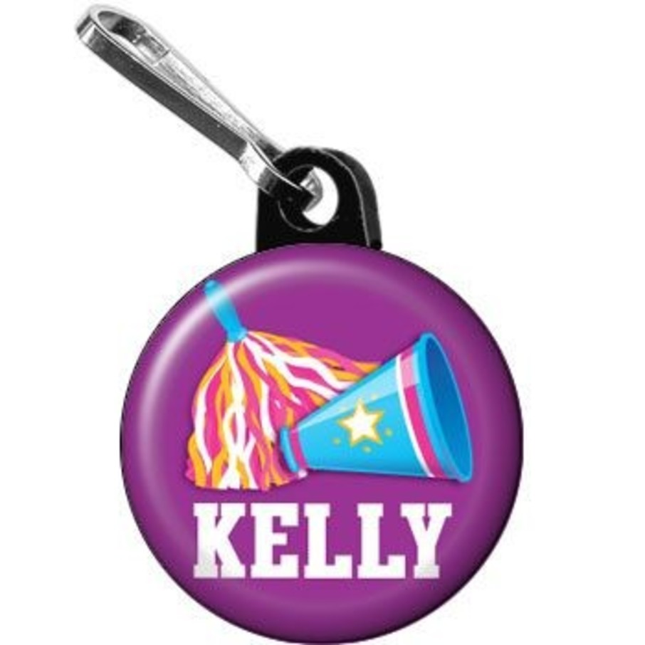 View larger image of Cheerleader Personalized Mini Zipper Pull (each)