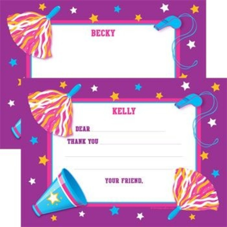View larger image of Cheerleader Personalized Thank You Note (each)