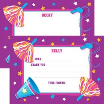 Cheerleader Personalized Thank You Note (each)
