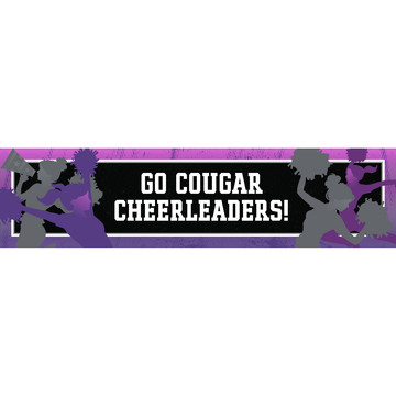 Cheerleading Personalized Banner (Each)