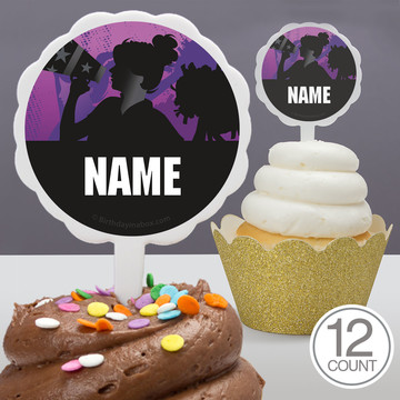 Cheerleading Personalized Cupcake Picks (12 Count)