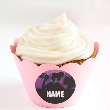 Cheerleading Personalized Cupcake Wrappers (Set of 24)