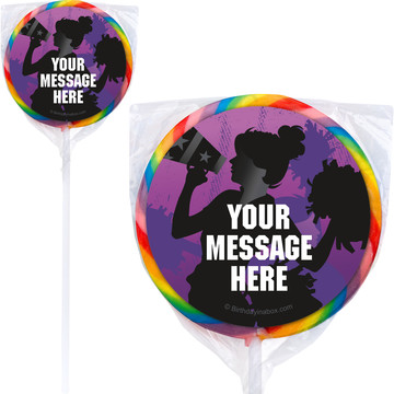 Cheerleading Personalized Lollipops (12 Pack)