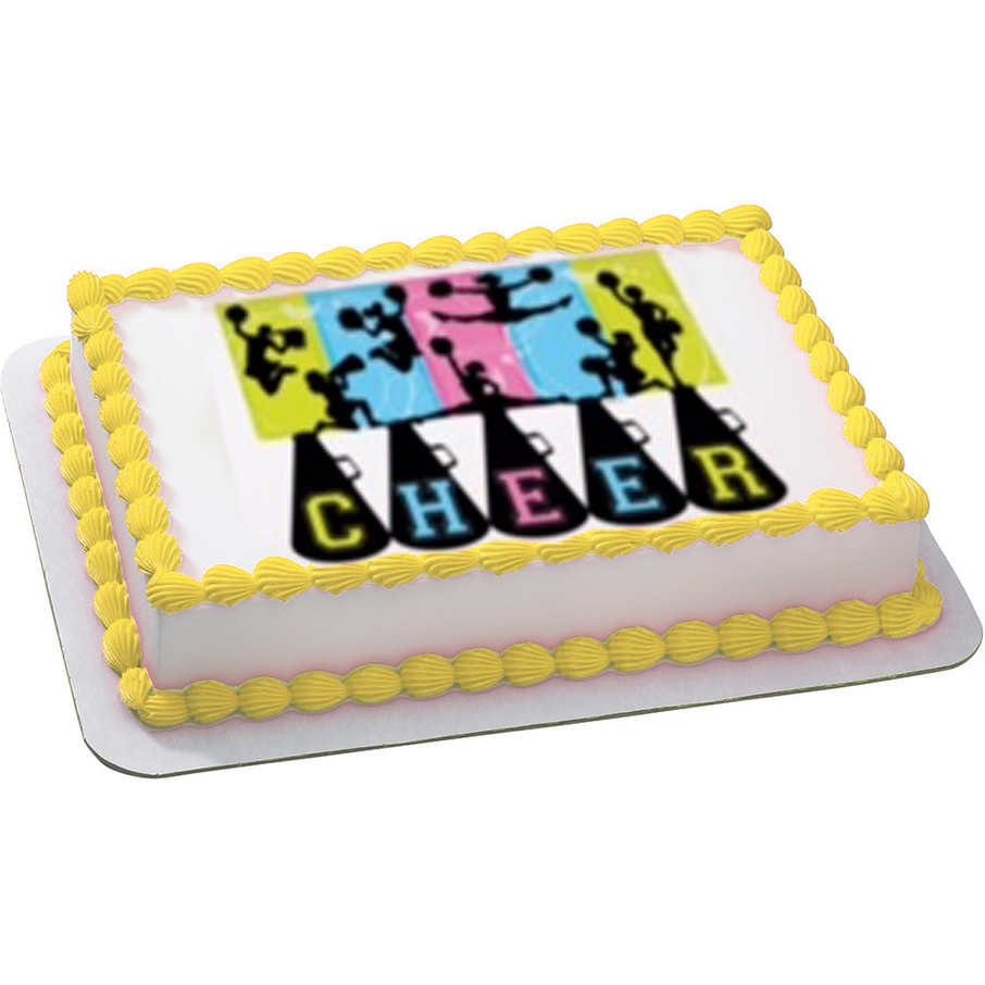 View larger image of Cheerleading Quarter Sheet Edible Cake Topper (Each)