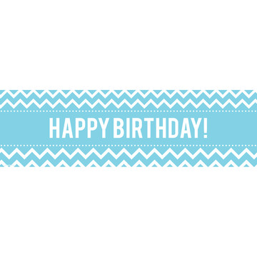 Chevron Blue Birthday Banner