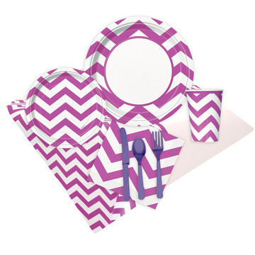 Chevron Pretty Purple Party Pack