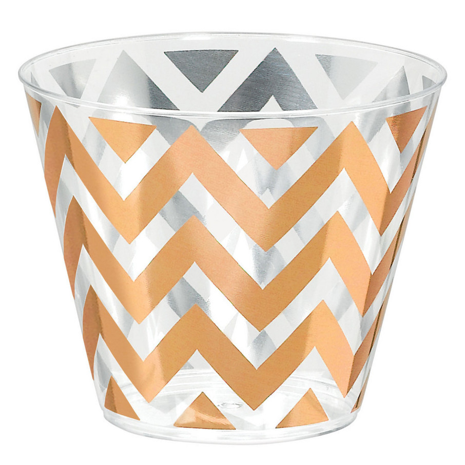 View larger image of Chevron Rose Gold 9oz. Tumbler (24)