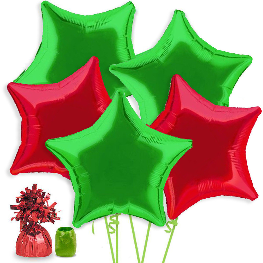 View larger image of Christmas Star Balloon Bouquet Kit
