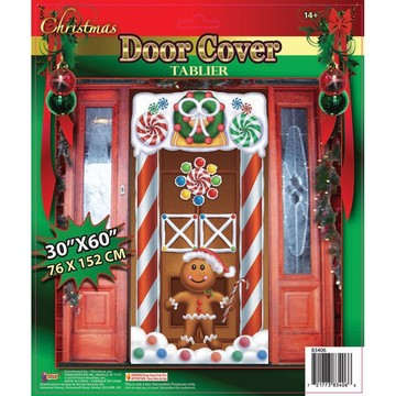 Christmas Door Cover Gingerbread