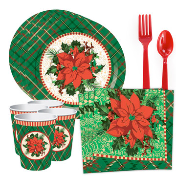 Christmas Plaid Standard Tableware Kit (Serves 8)