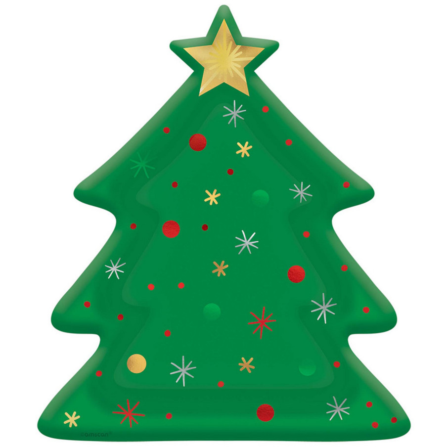 """View larger image of Christmas Tree Shaped 10.5"""" Plate (8)"""