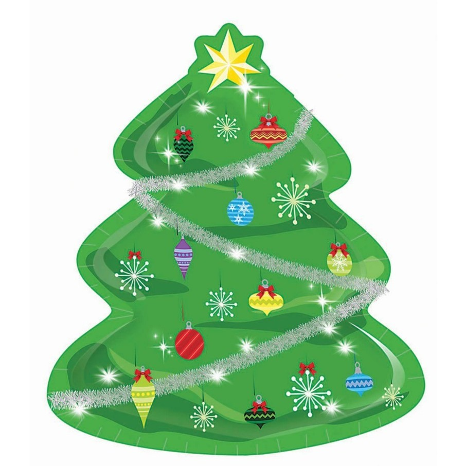 """View larger image of Christmas Tree Shaped 9"""" Lunch Plate"""