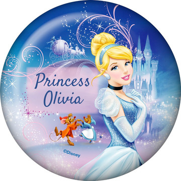 Cinderella Personalized Button (Each)