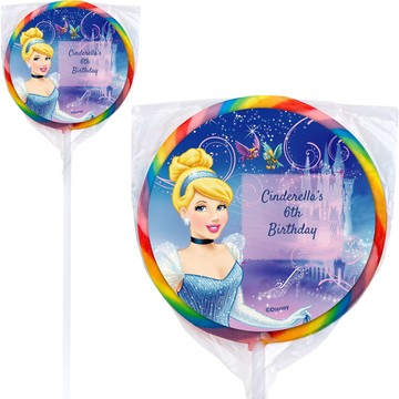 Cinderella Personalized Lollipop (12 Pack)