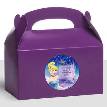 Cinderella Personalized Treat Favor Boxes (12 Count)