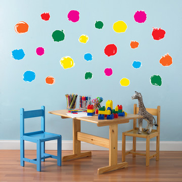 Circle Dot Confetti Small Wall Decal