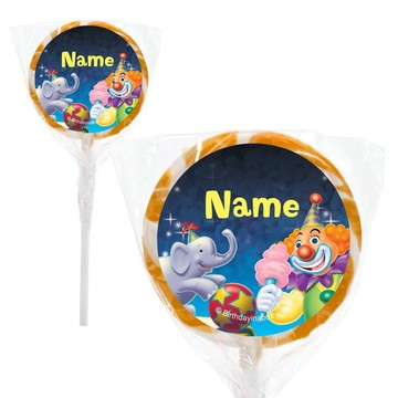 "Circus Party Personalized 2"" Lollipops (20 Pack)"