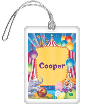 Circus Party Personalized Bag Tag (each)