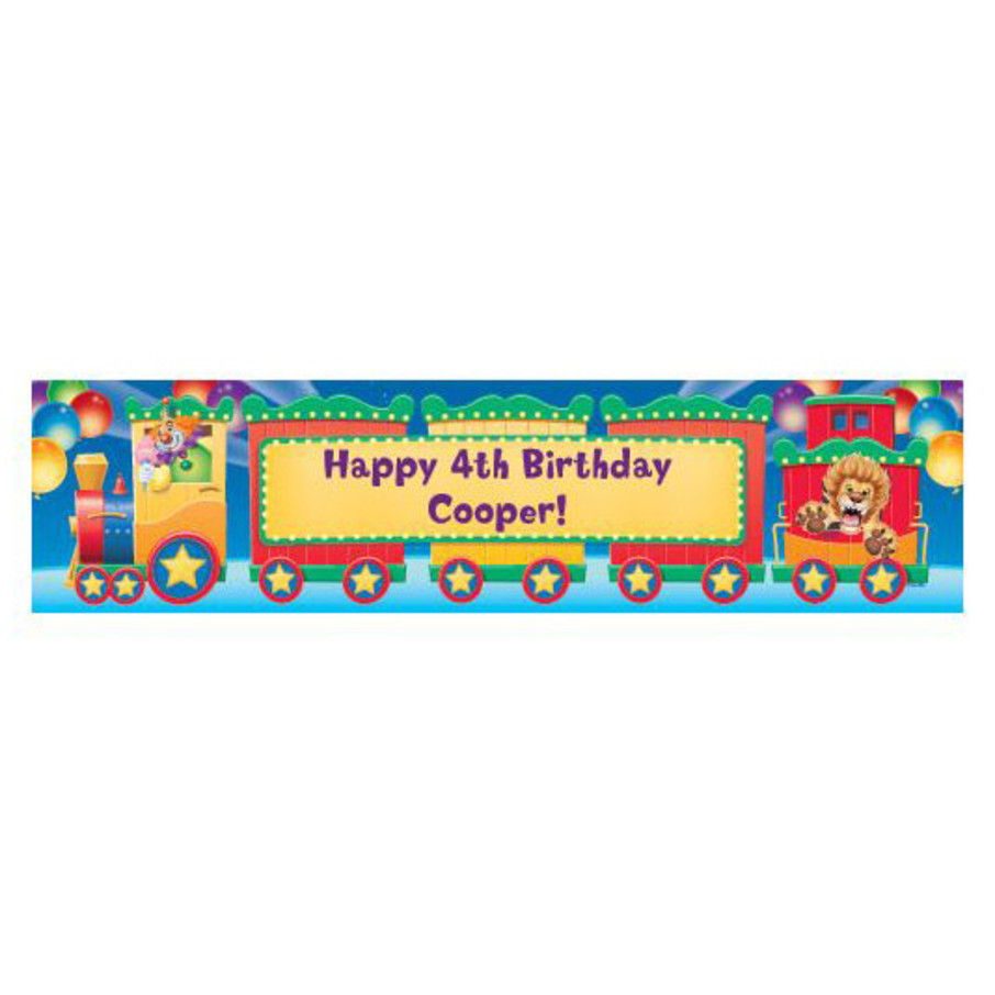 View larger image of Circus Party Personalized Banner (each)