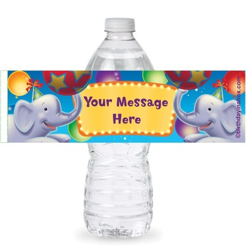 Circus Party Personalized Bottle Labels (Sheet of 4)