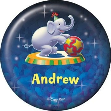 Circus Party Personalized Button (each)