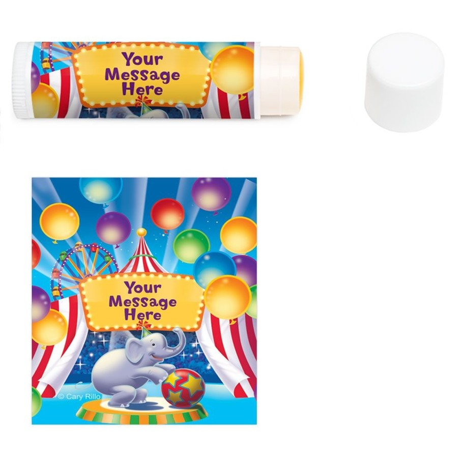 View larger image of Circus Party Personalized Lip Balm (12 Pack)